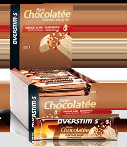Barretta cioccolato bianco - mirtilli rossi